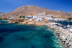 Harbour of a Cycladic Island. The Aegean Sea and the harbour of a Cycladic Island, Greece stock photos