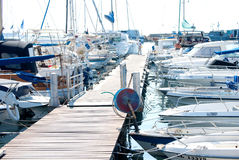 Harbour deck Stock Photography