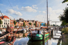 Harbour of Delfshaven in Netherlands Stock Photo
