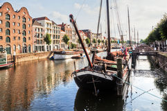 Harbour of Delfshaven, Netherlands Royalty Free Stock Photo