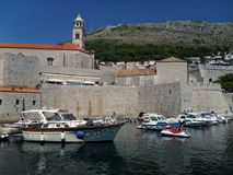 Harbour in Dubrovnik Royalty Free Stock Photography