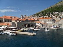 Harbour in Dubrovnik Stock Images