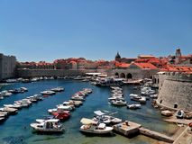 Harbour in Dubrovnik Royalty Free Stock Photo