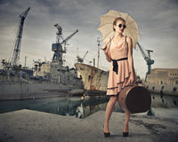 At the harbour Stock Photography