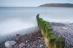 Harbour Entrance. Porlock Wier Harbour Entrance, North Somerset Stock Photo