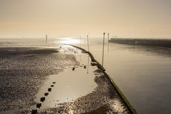 Harbour entrance at Littlehampton, Sussex, England Stock Images