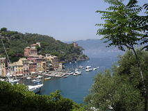 Harbour entrance to Portofino, Italy, Stock Images