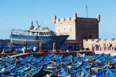 In the harbour of Essaouira, Morocco Stock Photo