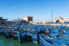 In the harbour of Essaouira, Morocco Stock Image