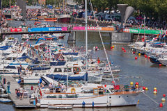 Harbour Festival Scene Stock Photo