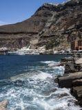 Harbour at Fira, Santorini, Greece Stock Image