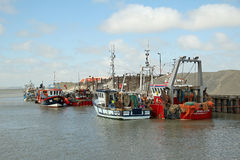 Harbour fishing boats Stock Image