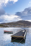 Harbour in a fjord in Norway Stock Image