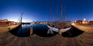 Harbour of Flensburg Stock Photos