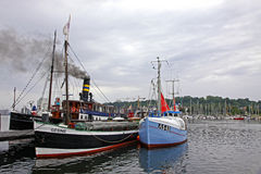 Harbour in Flensburg city, Germany Stock Photos