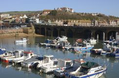 Harbour at Folkestone. Kent. England Royalty Free Stock Photo