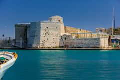 Harbour fort. Trani. Apulia. Italy royalty free stock images