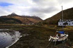 The harbour of Glencoe Royalty Free Stock Photo