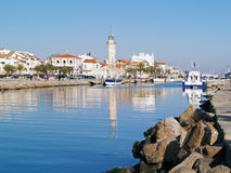 Harbour Grau du Roi, France. Lighthouse in the Harbour Grau du Roi, in the south of France Royalty Free Stock Image