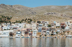 The harbour of the Greek island of Kalymnos, the s Stock Image