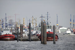 Harbour, Hamburg. Tugboat in Port of Hamburg Stock Images