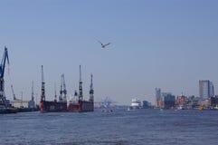 Harbour of Hamburg. In Germany Stock Photo