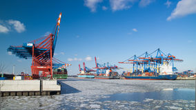 Harbour at Hamburg Royalty Free Stock Photography