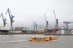 Harbour of Hamburg in Germany Royalty Free Stock Images