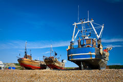 Harbour in Hastings, UK. Stock Images