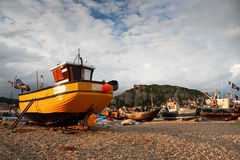 Harbour in Hastings, UK. Royalty Free Stock Photography