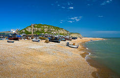 Harbour in Hastings, UK. Stock Image
