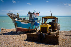 Harbour in Hastings, UK. Royalty Free Stock Photos