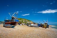 Harbour in Hastings, UK. Stock Image