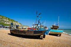 Harbour in Hastings, UK. Royalty Free Stock Image