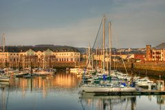 Harbour in hdr Royalty Free Stock Image