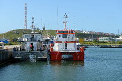 Harbour of Helgoland Stock Image