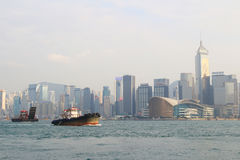 The harbour of Hong Kong at daytime Royalty Free Stock Photo