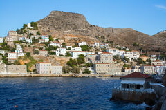 Harbour of Hydra island, Aegean sea Royalty Free Stock Images