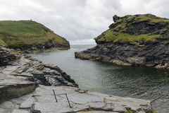 Harbour inlet at Boscastle, Cornwall Stock Photos