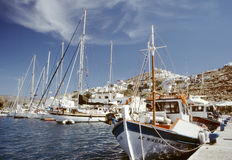 Harbour at the Ios island, Greek Stock Photography