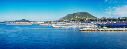 Harbour of Ischia island, Italy Stock Images