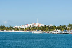 Harbour in Isla Mujeres, Mexico Royalty Free Stock Photography
