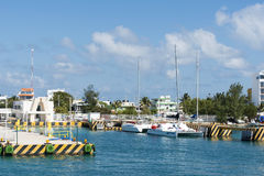 Harbour in Isla Mujeres, Mexico stock images