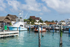 Harbour in Isla Mujeres, Mexico Royalty Free Stock Image