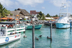 Harbour in Isla Mujeres, Mexico Stock Photo