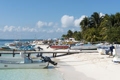 Harbour in Isla Mujeres, Mexico Royalty Free Stock Photo