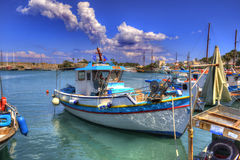 Harbour Island of Kos Greece. Excursion Island Greece to the port Stock Photos