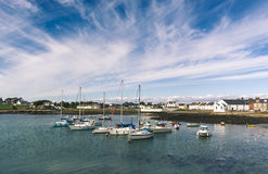 Harbour at Isle of Whithorn Royalty Free Stock Photo