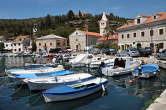 The harbour of Jablanac village, Croatia Royalty Free Stock Photo