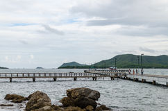Harbour Jutting out. Harbour Island Jutting out into the Gulf of Thailand Royalty Free Stock Photo